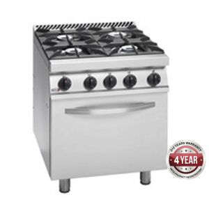 Fagor 700 series natural gas 4 burner gas range with gas oven CG7-41H