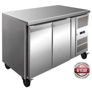 FE2100BT S/S Two Door Bench Freezer 260L