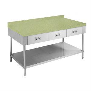Green Splashback for Stone Kitchen Bench - FY-RE156G-SP