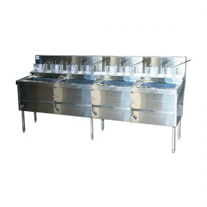 Gas Fish and Chips Fryer Four Fryer - WFS-4/22