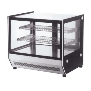 Counter top square 2 Shelves Glass cold food display - GN-1200RT