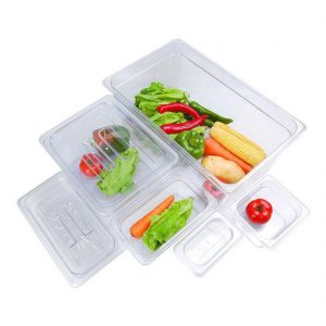 JW-P132 - Clear Poly 1/3 x 65 mm Gastronorm Pan