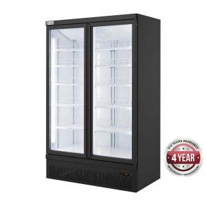 Double Door Supermarket Freezer - LG-1000BGBMF