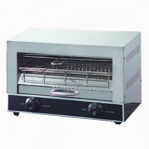 Single infrared quartz element salamander griller toaster and timer - QT-1