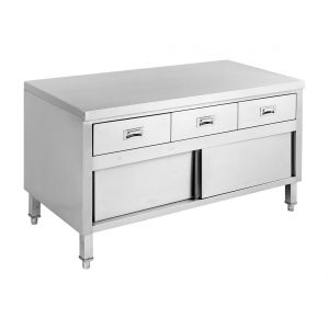 Bench Cabinet with 3 Drawers & Doors - SKTD6-1500