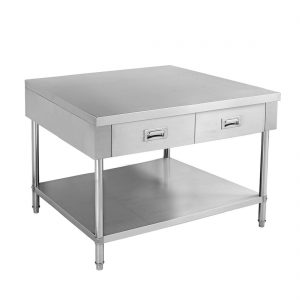 SWBD-7-0900 Work bench with 2 Drawers and Undershelf