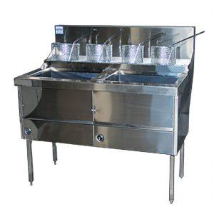 Gas Fish & Chips Fryer Two Pan Fryer - WFS-2/22