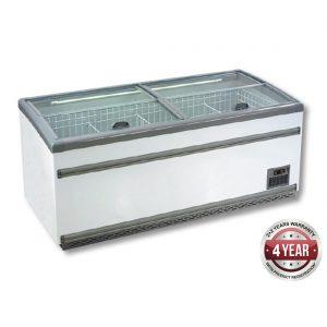 ZCD-E185S Supermarket Island Dual Temperature Freezer & Chiller
