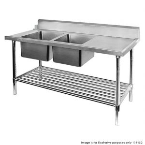 Dishwasher Left Double Sink Inlet with Pot Shelf DSBD7