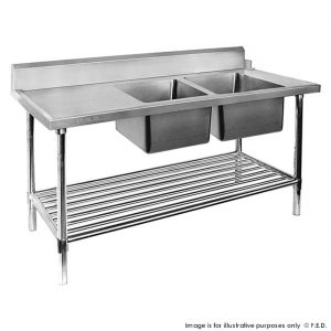 Dishwasher Right Double Sink Inlet with Pot Shelf DSBD7