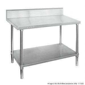 Premium 304 Grade Stainless Steel work bench with splashback 600 Deep