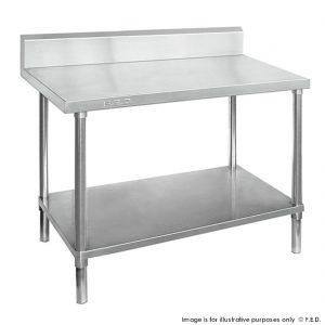 Premium 304 Grade Stainless Work Bench Undershelf Splashback 700 Deep