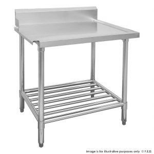 Premium Stainless Steel Dishwasher Bench Left Outlet