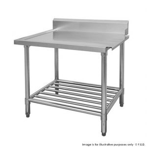 Premium Stainless Steel Dishwasher Bench Right Outlet