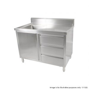 Kitchen Tidy Cabinets with Left Sink Drawer & Doors