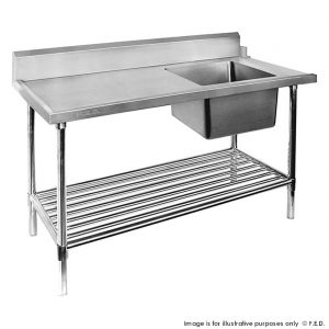 Dishwasher Right Single Sink Inlet with Pot Shelf SSBD7