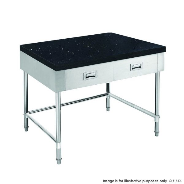 Kitchen Tidy Cabinet with Drawers & Stone Top U Shape Brace 700mm Deep