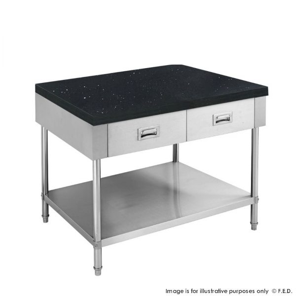 Kitchen Tidy Cabinet with Drawers & Stone Top 600mm Deep